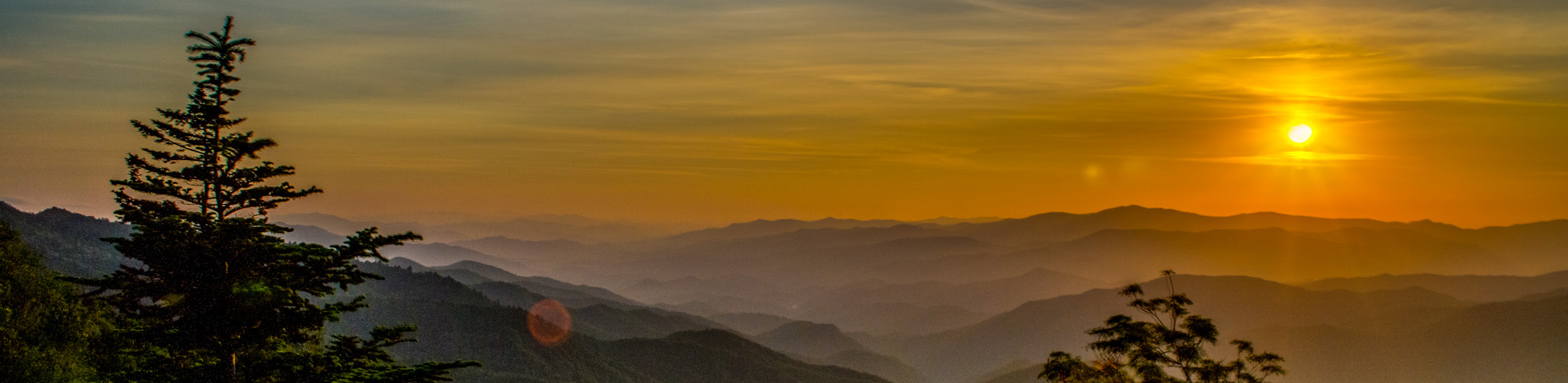<p>Fog fills the valleys as the sun sets in the Smoky Mountains Available at: Fine Art America</p>