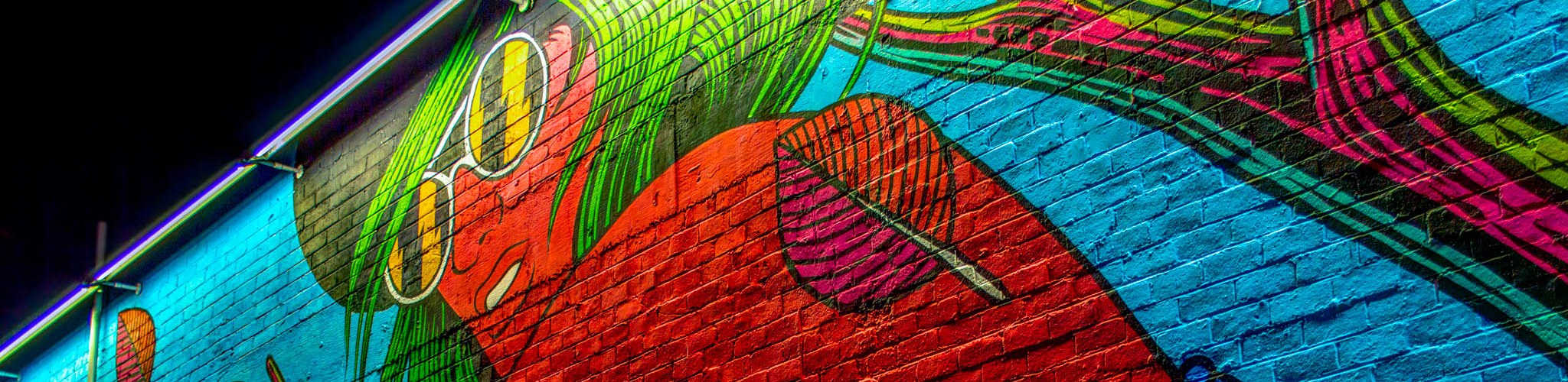 <p>A vivid summer mural painted on a wall in downtown Las Vegas Fine Art America</p>