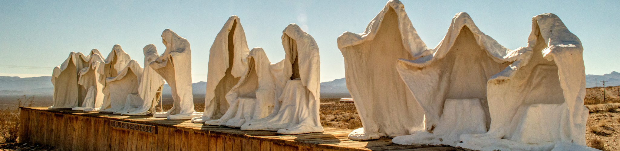 <p>Cloaked, ghostly figures are posed in a recreation of DaVincis Last Supper Available at: Fine Art America</p>